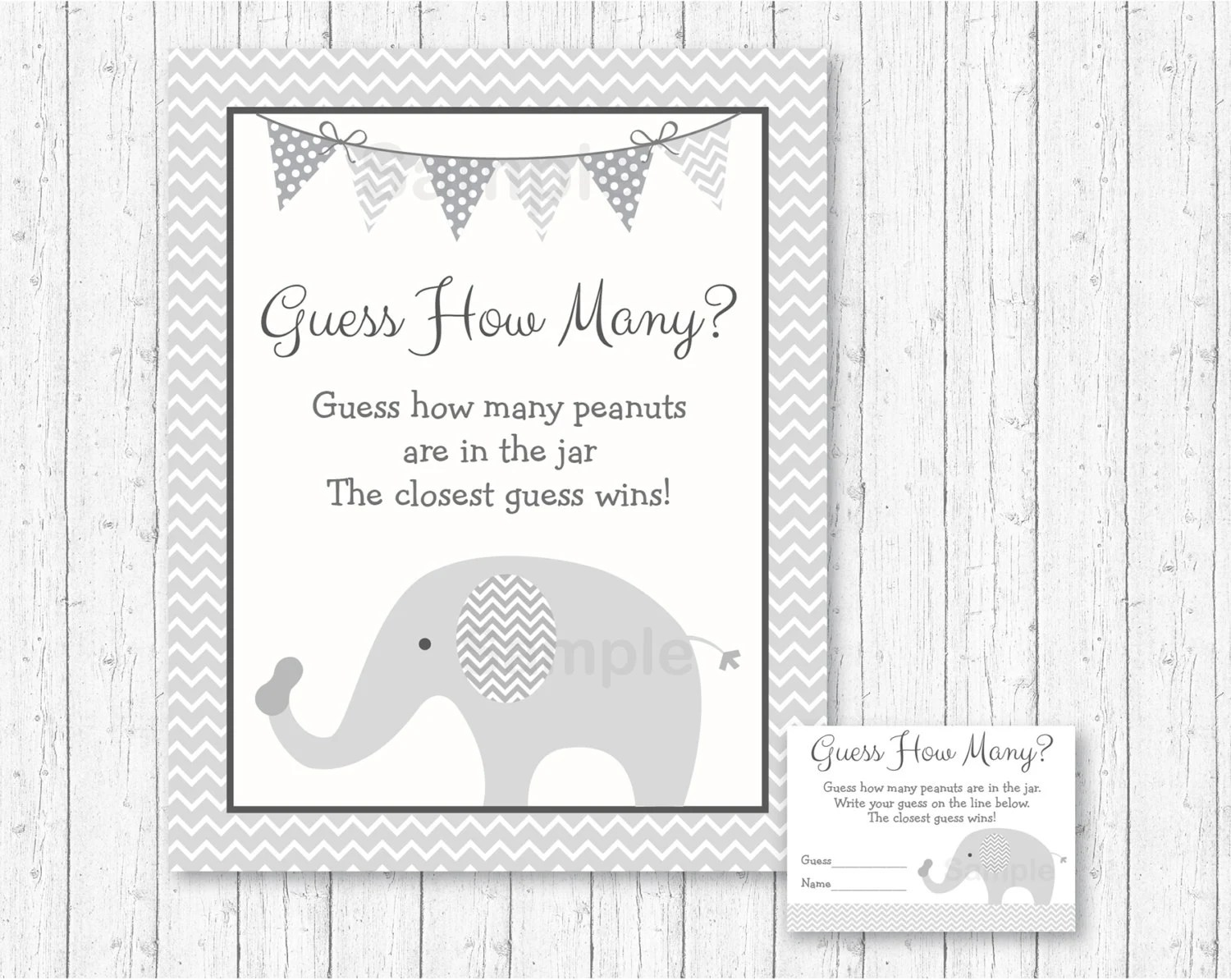 Cute Elephant Guess How Many Peanuts Game / Elephant Baby