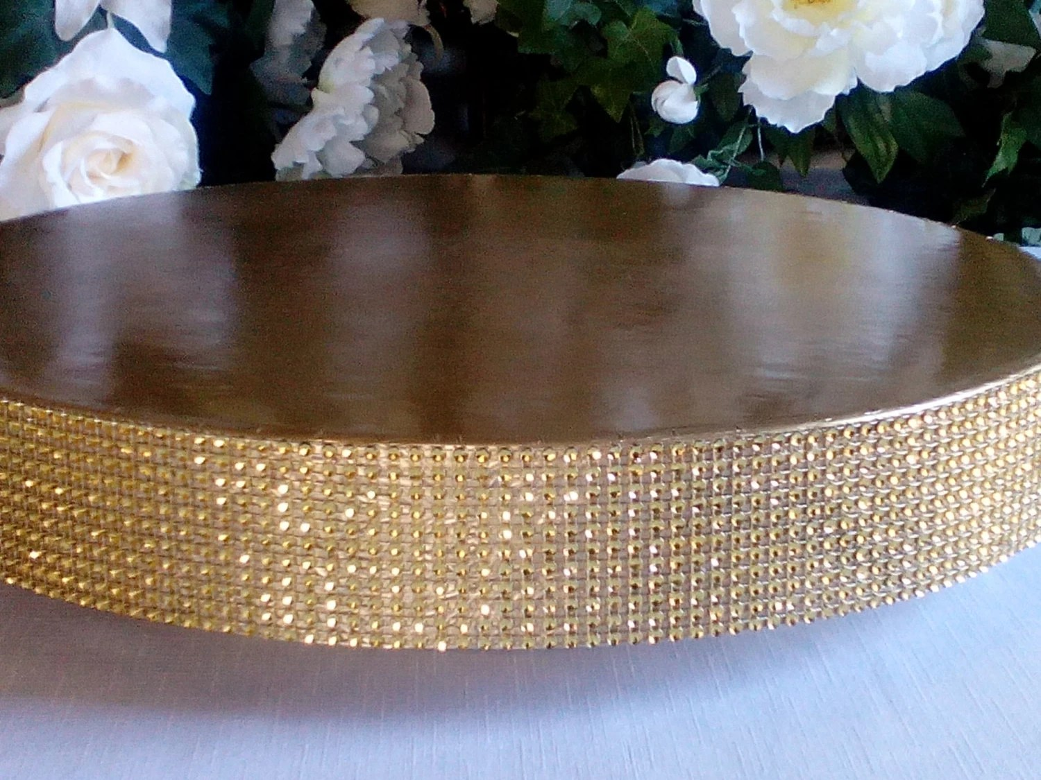 Wedding Cake Stand Glitzy Gold 14 16