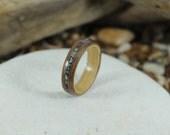 Oak & Walnut Wood Ring Wi...