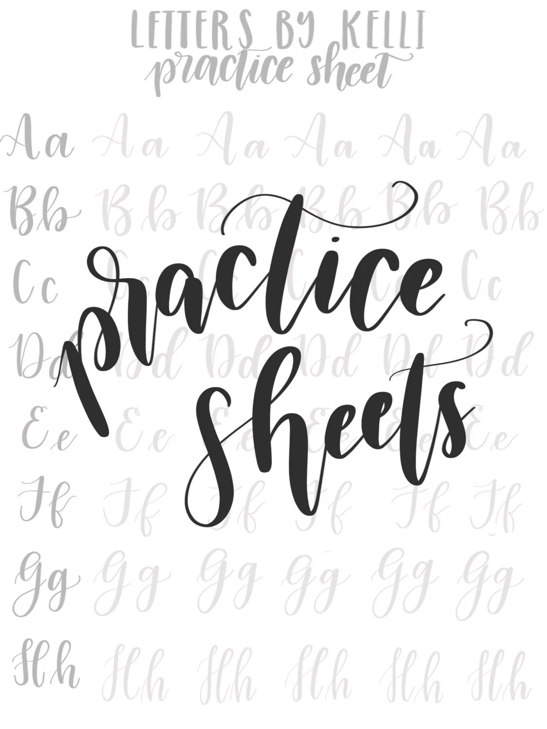 Practice Uppercase and Lowercase Hand Lettering Worksheets