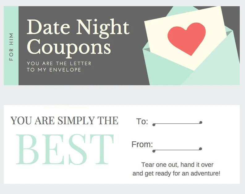 Date Night Coupons Etsy