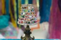 Home Decor Beaded Lamp Shade Mini Lamp Shade Blue Beaded
