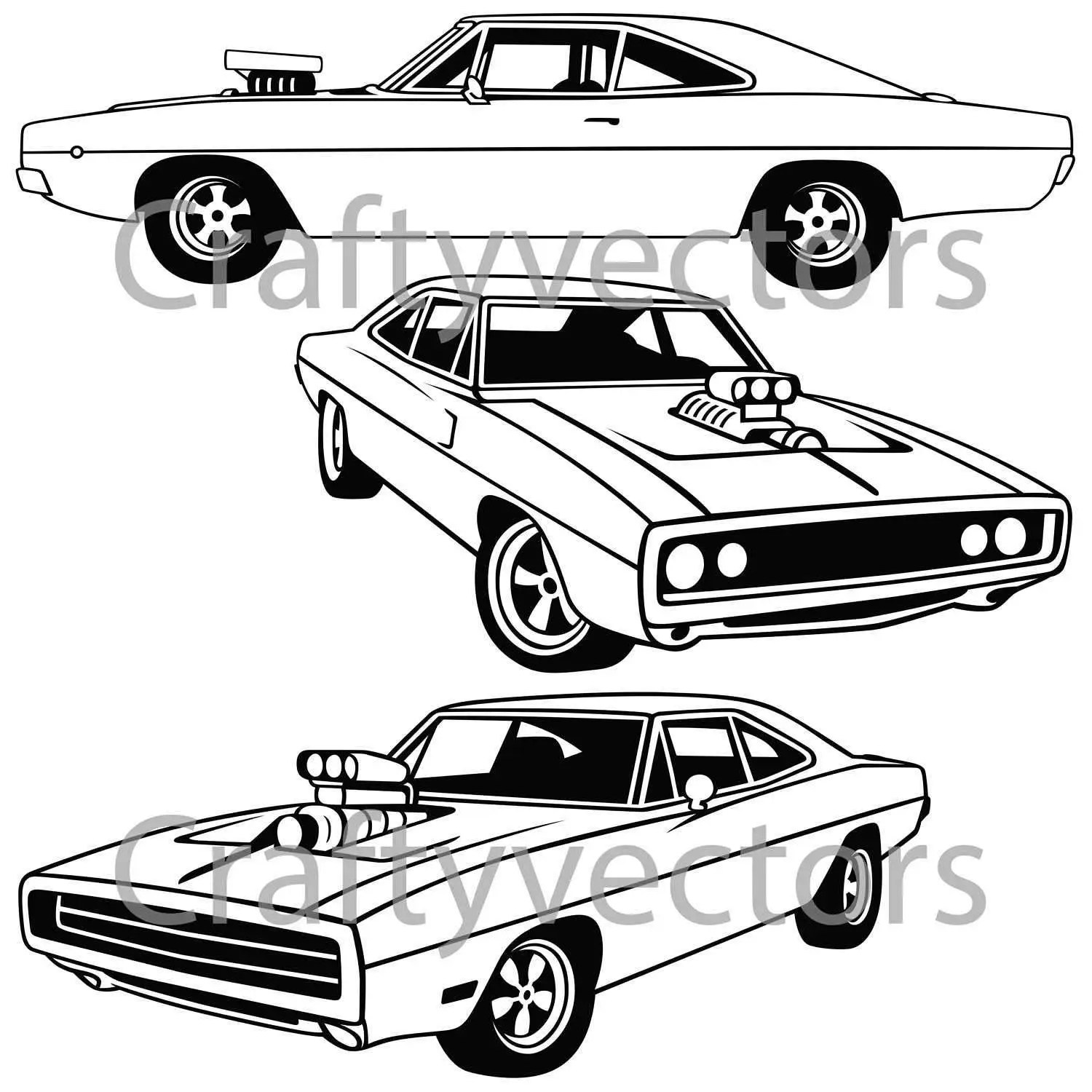 Dodge Charger Vector File From Craftyvectors On Etsy