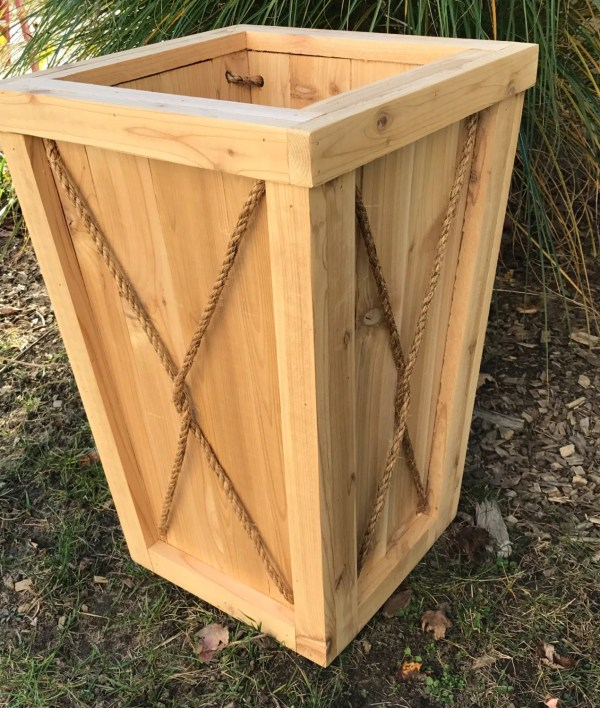 Tall Outdoor Planter Boxes Wood