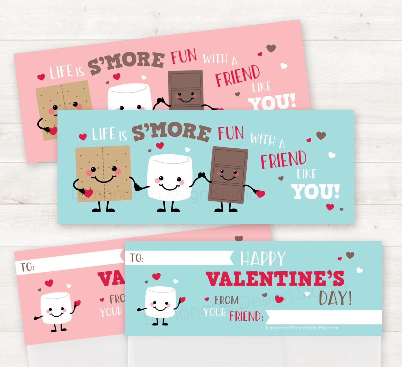 Printable Smores Valentines School Valentines Valentines Day