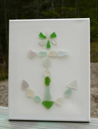Maine Made Sea Glass Filled Lamp