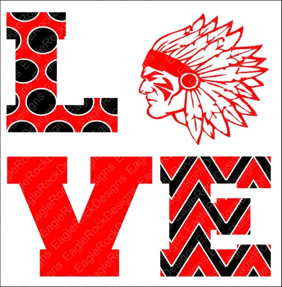 Download Love Indians Indians SVG DXF EPS Png Cut File Cheer