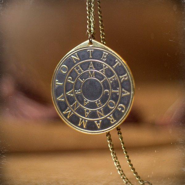 Magic Ring Disc Of Solomon Seal Kabbalah Amulet Pendant