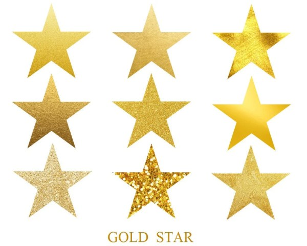 3 9 usd - gold star stars