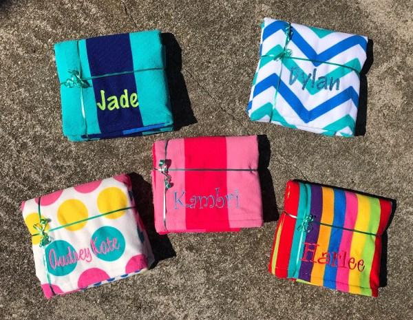 Personalized Beach Towels Monogrammed Towel Girls