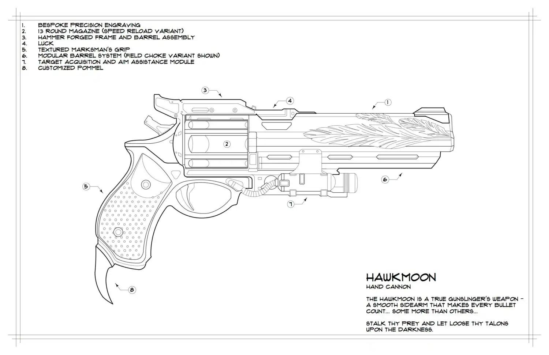 Destiny: Hawkmoon Schematic Drawing