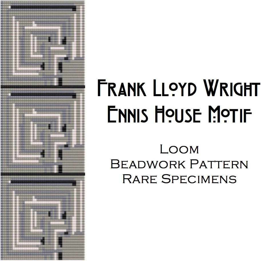 Frank Lloyd Wright Ennis House Brick Motif Loom Beadwork
