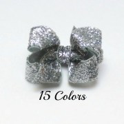silver hair bows girls