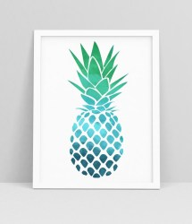 pineapple wall decor print printable tropical
