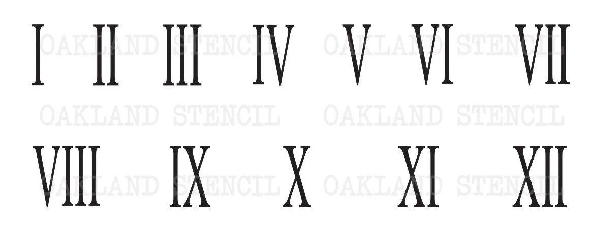 Roman Numerals Stencil 1 5 U0026quot