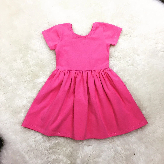 Girls Swing Dress Toddler Red Dress Newborn Coming Home