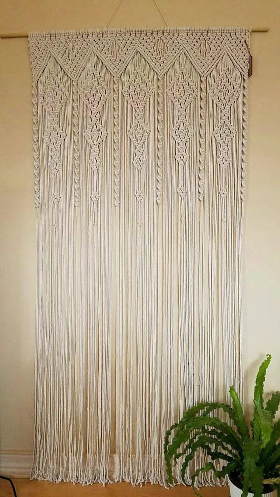 Items Similar To Macrame Curtain Room Divider Door Curtain Retro Wall Hanging Boho Chic Retro