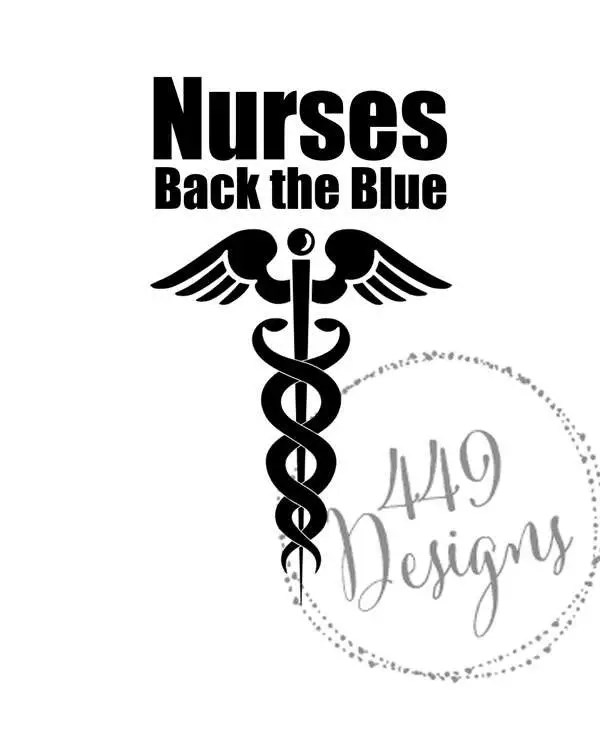 Nurse Stethoscope Supporting Police Wife and Law Enforcement