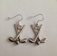 Golf Earrings Sports Earrings Women's Golf Earrings