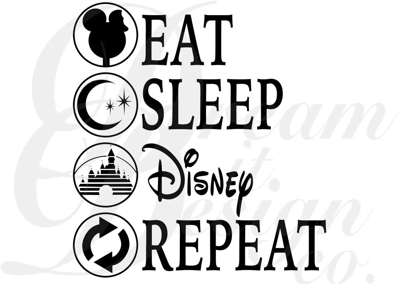 Disney Eat Sleep Disney Repeat Design for Silhouette Studio