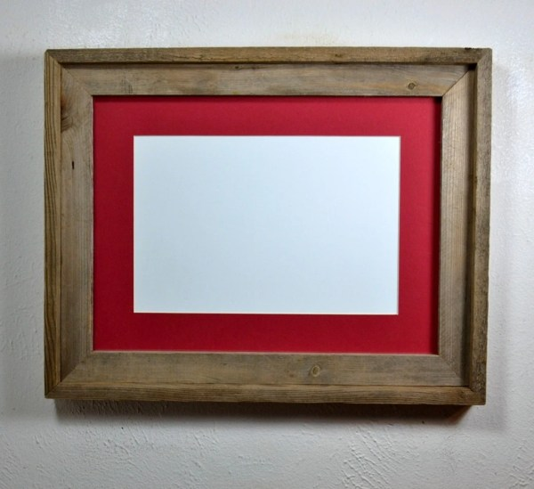 12x16 Frame Reclaimed Wood With Mat 9x12 8x12 Free