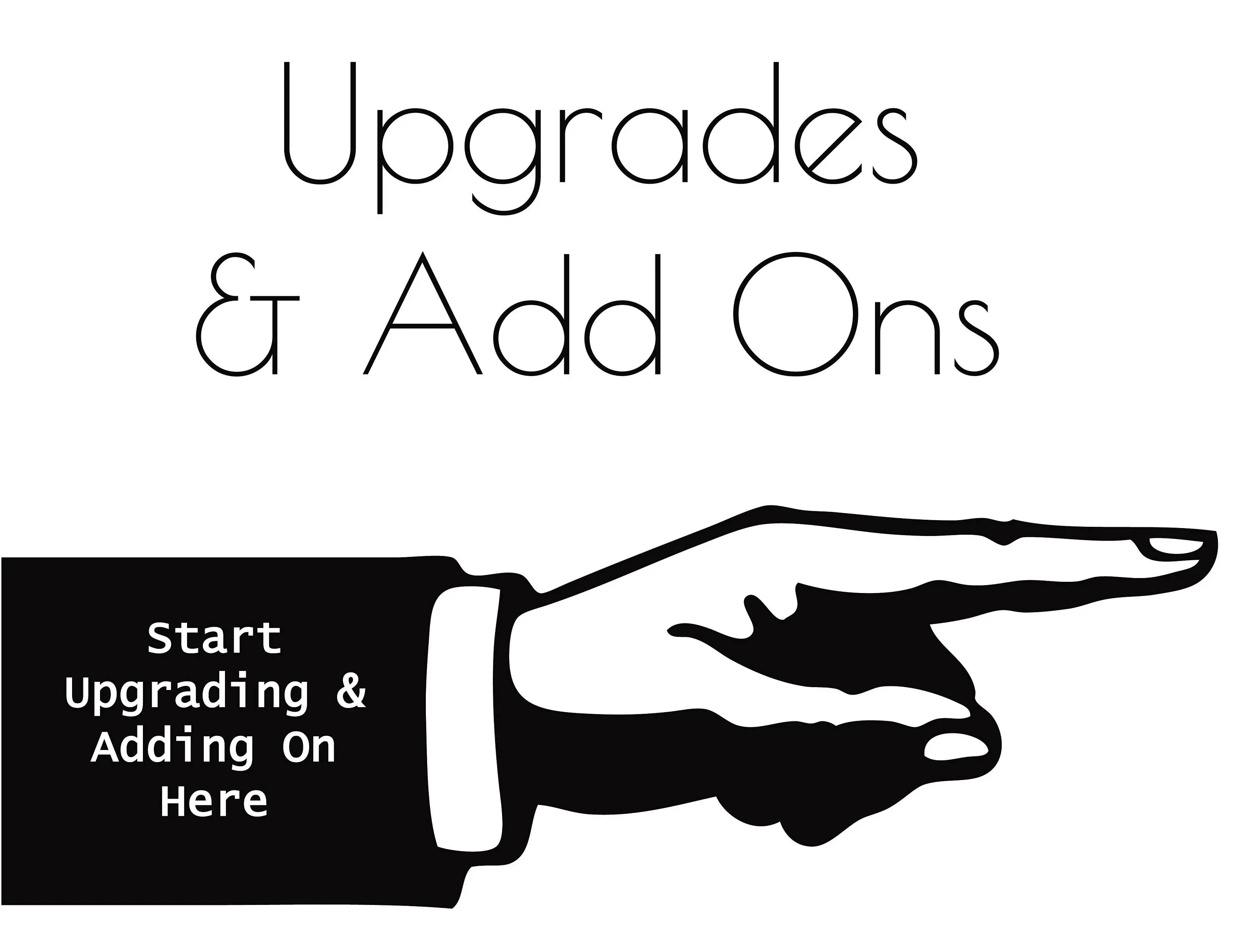 Upgrades Amp Add Ons Section From Infusedmotif On Etsy Studio