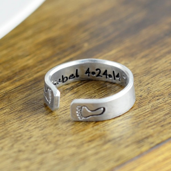 Adjustable Ring Personalized Hand Stamped