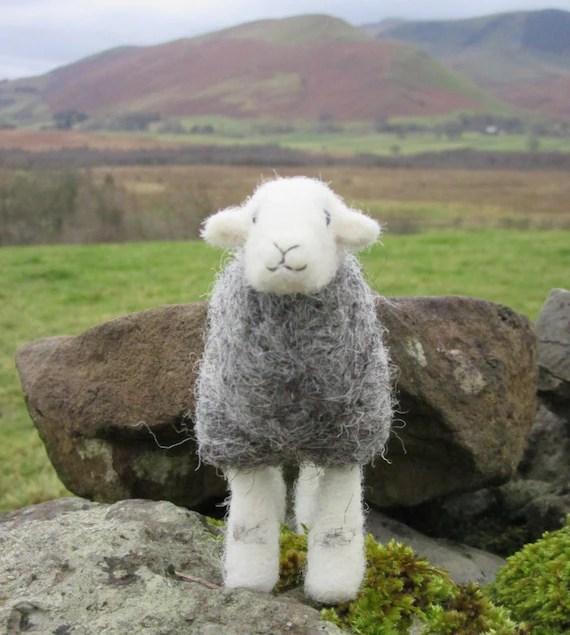 Handmade needlefelted Herdwick sheep a ewe by ...