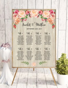 Rustic wedding seating chart template printable reception sign watercolor plan also rh lastclustersp