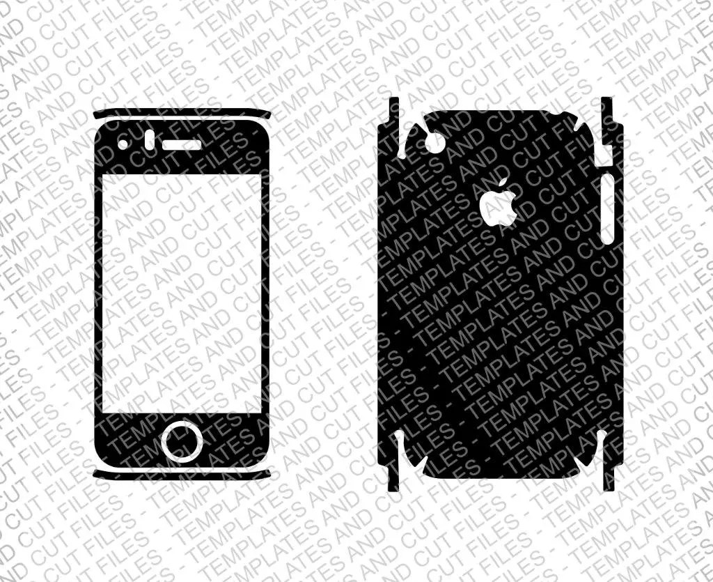 Iphone 6 Skin template for cutting or machining Digital