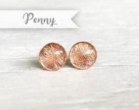 Copper earrings | Etsy