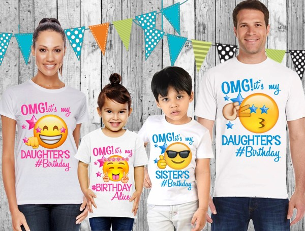 Emoji Shirt Birthday Shirts Matching Family