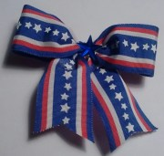 red white and blue hair bow
