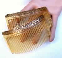 vintage hair combs accessories 2 antique hair combs hair ...