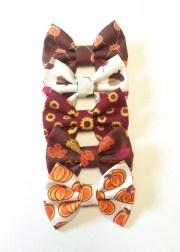 small fall bow handmade fabric