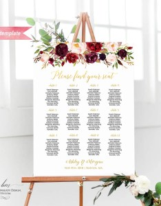 Il xn also printable burgundy floral seating chart board gold wedding rh catchmyparty
