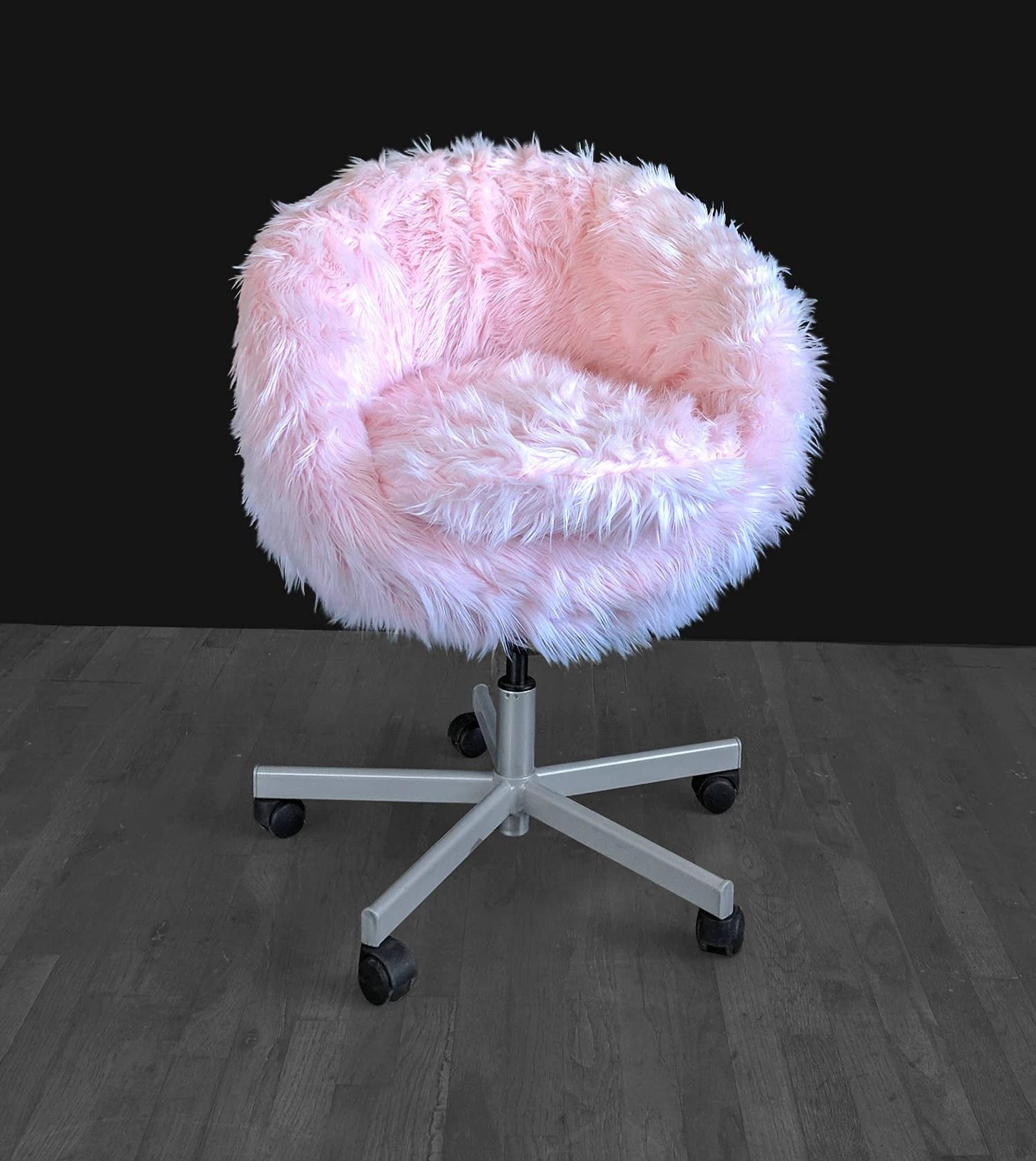 IKEA Pink Fur SKRUVSTA Chair Slip Cover