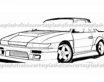 Nissan 240sx 180sx S13 S14 S15 Silvia Kouki Zenki Type X Front