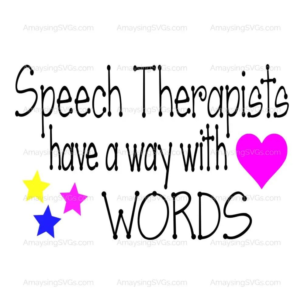 SVG Speech Therapists have a way with words Speech Therapy