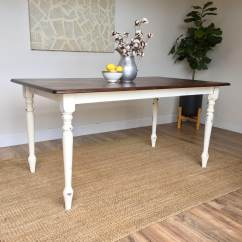 White Farmhouse Kitchen Table And Chairs Shower Chair With Wheels Removable Arms Distressed Small Dining