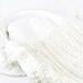 White Chunky Knit Baby Blanket with Tassels Bassinet Blanket