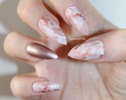 rose gold pink marble stiletto
