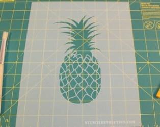 pineapple stencils stencil print