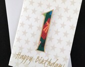 Number birthday card, num...