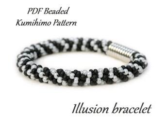 PDF Beaded Kumihimo Pattern Ombre Kumihimo bracelet bead