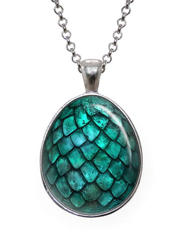 Turquoise Dragon Egg Necklace Game of Thrones Dragon Pendant