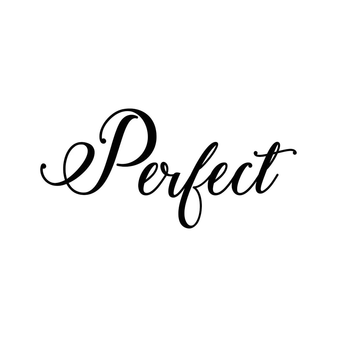 Perfect letter Phrase Graphics SVG Dxf EPS Png Cdr Ai Pdf