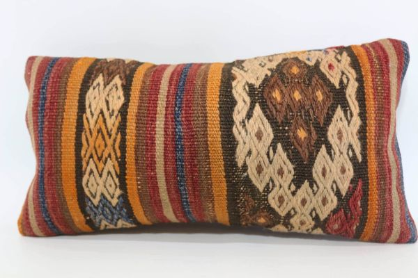 10x20 Turkish Embroidered Kilim Pillow Floor