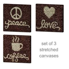 Kitchen Art Prints Contemporary Designs Set Of 3 Wall Coffee Bean