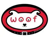DECAL - woof dog face - E...